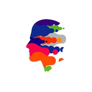 设计传媒业logo设计-彩色人物头像矢量logo图标素材下载