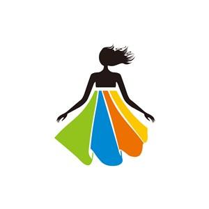 女性服饰行业logo设计-彩色人物服饰相关矢量logo图标素材下载