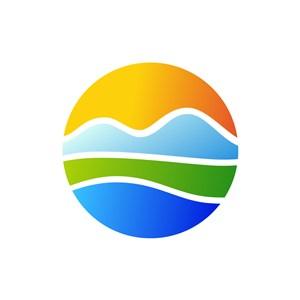 彩色球形矢量logo图标素材下载