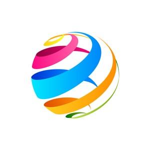 彩色球体矢量logo图标素材下载