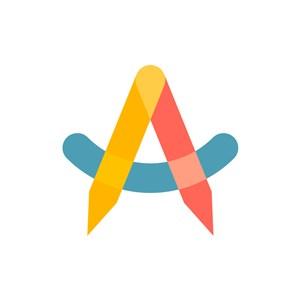 教育行业logo设计-彩色铅笔办公文具相关矢量logo图标素材下载