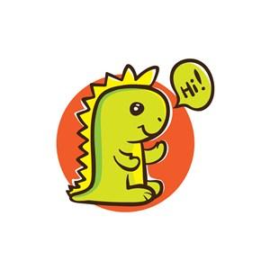 儿童动漫行业logo设计-彩色恐龙矢量logo图标素材下载