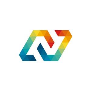 彩色科技矢量N字母标志设计素材下载