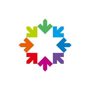 彩色箭头目标矢量logo图标素材下载