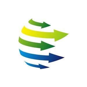 网络科技行业logo设计-彩色箭头科技抽象矢量logo图标素材下载