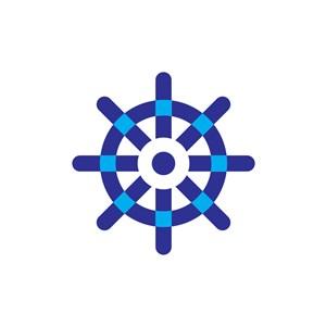 航运舵手方向相关logo图标