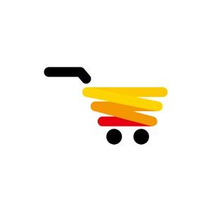 购物车矢量图商标素材
