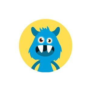 怪物矢量图logo素材
