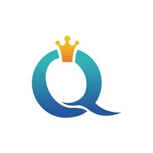 女王皇冠字母Q矢量logo图标素材