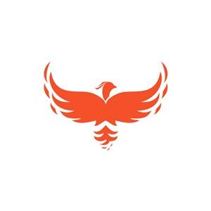 设计传媒logo设计--展翅的凤凰logo图标素材下载