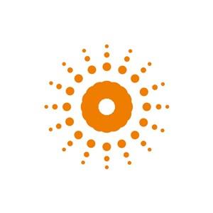 家居logo设计--发散太阳logo图标素材下载