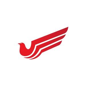 红色鸟翅膀矢量logo图标