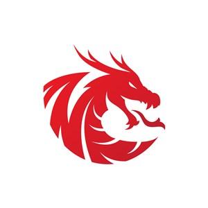 吐火的恶龙矢量logo图标设计素材