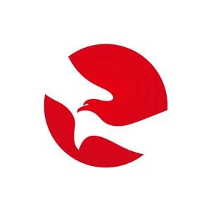 红色和平鸽矢量logo图标设计
