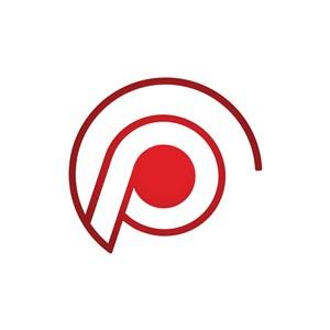 红色线条矢量图标志logo设计素材