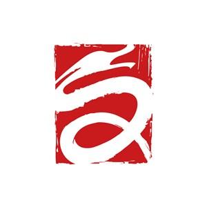 红色龙矢量logo图标设计
