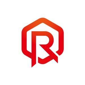 红色六边形字母R矢量logo图标设计