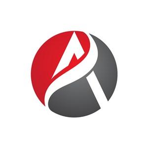 字母A贸易创意logo图标设计