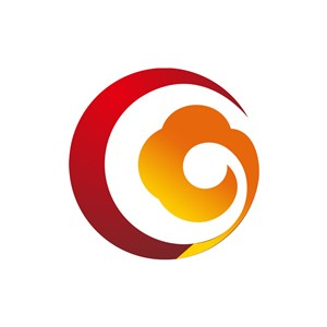 红色黄色祥云矢量logo图标设计