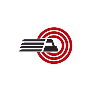 红色黑色货车矢量logo图标素材