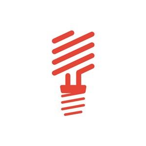 创意灯泡互联网方向矢量logo图标