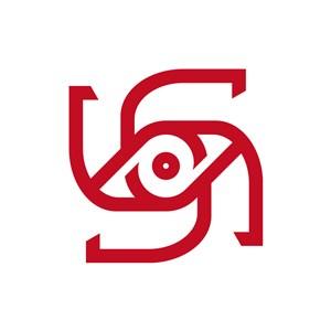 抽象眼睛影视相关矢量logo图标