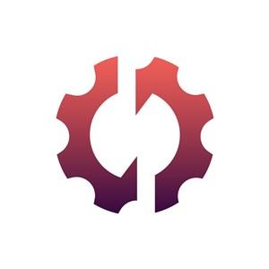 齿轮矢量logo图标设计