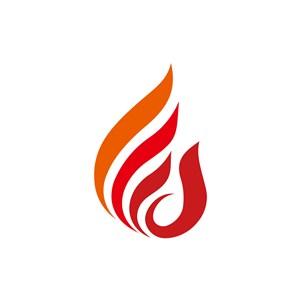 橙色火造型矢量logo图标设计