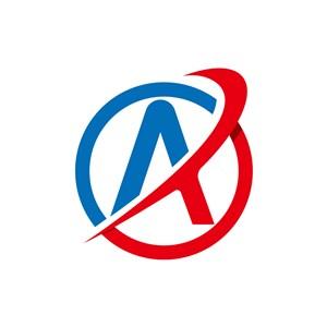 红蓝字母A矢量logo图标