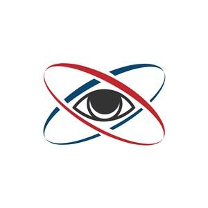 眼睛视野轨迹矢量logo素材设计