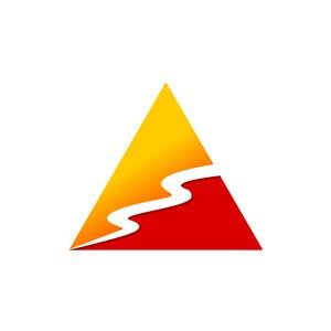 红黄三角形矢量logo图标
