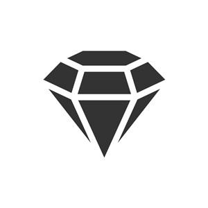 黑色钻石珠宝女性相关矢量logo图标