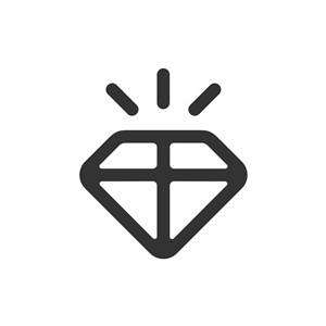 黑色钻石矢量logo元素
