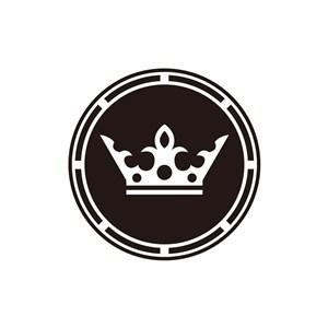圆形皇冠美容时尚服装相关矢量logo图标