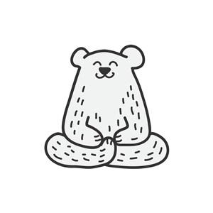 熊矢量logo元素