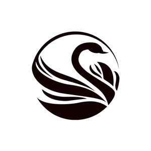 黑色天鹅矢量logo图片