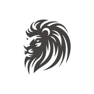 黑色雄狮矢量logo元素