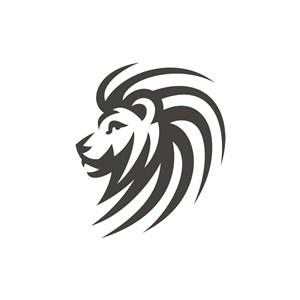 简约狮头矢量logo元素