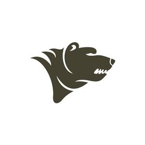咆哮的熊头矢量logo图标