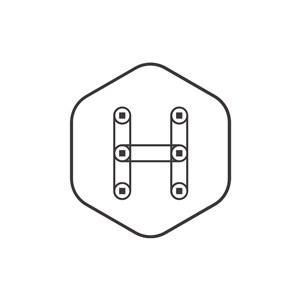 字母H矢量创意logo素材