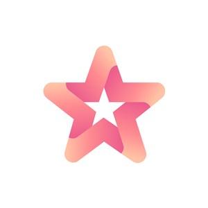 设计传媒logo设计--五角星logo图标素材下载