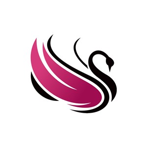 设计传媒logo设计--天鹅logo图标素材下载