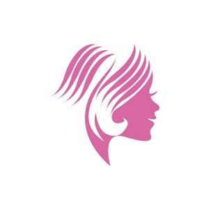 美容醫療logo設計--美女logo圖標素材下載