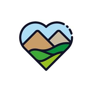 田园农场logo设计-爱心农场矢量图logo图标素材下载