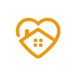 爱心房子矢量logo图标素材下载