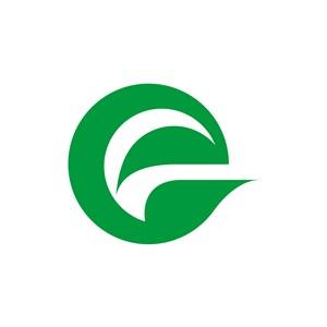 绿色e字母标志设计素材下载