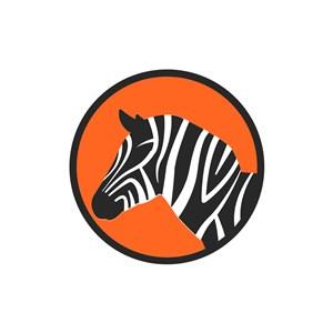 酒店旅游行业logo设计-斑马矢量图logo图标素材下载