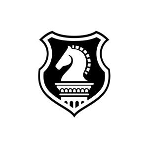 安全盾牌马元素logo图标素材下载