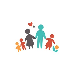 家居行业logo设计-爱心牵手人矢量logo图标素材下载