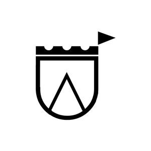 U形城堡矢量图形logo图标素材下载